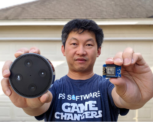 C.K. Fong used Alexa to open his garage door
